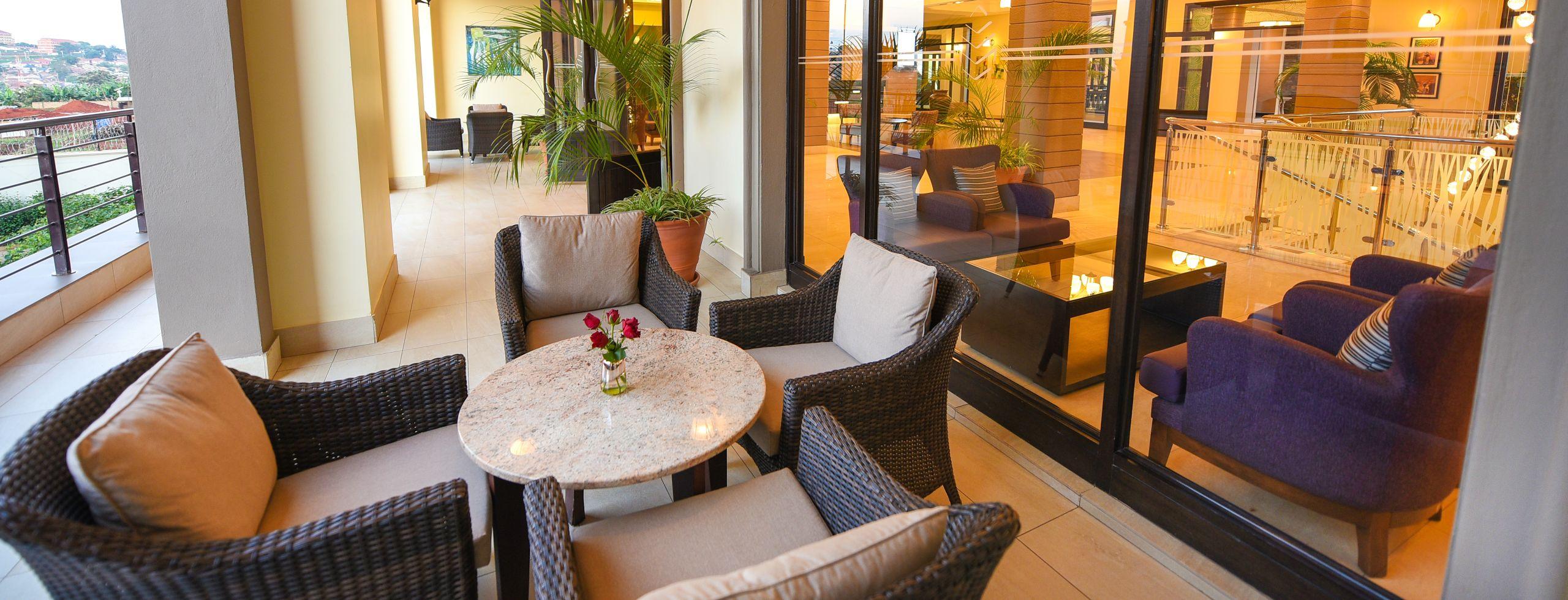 Homepage: Outside terrace